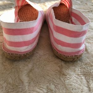 J. Crew Shoes - New J crew pink and white espadrilles size 9